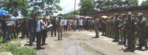 Potom carried out eviction drive in Housing Complex
