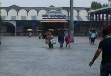 Photo of NF Railway cancelled several trains, flood water submerged tracks