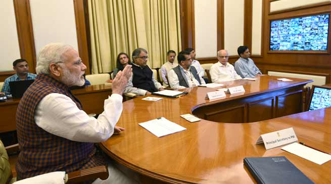 PM Modi Conducts Video Conference on ' New India-Manthan'