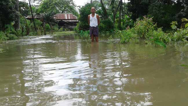 Namsai- Nanam Khamiyang Village inundated