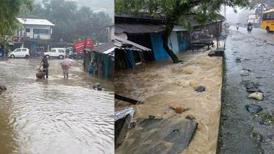 Photo of Bhalukpong township submerge in Artificial flood due to heavy rain