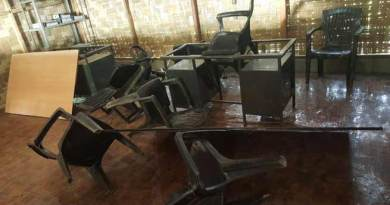 Longding- Miscreants looted and damaged Nabam Tullon LLP Construction office