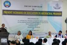Photo of AAPSU organises symposium on 'Present Scenario of Education in Arunachal Pradesh'