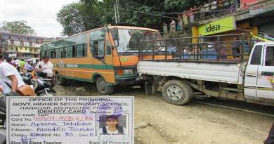 Itanagar: One student dies, one Injured in a road accident