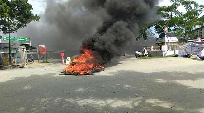 Violence during Arunachal Bandh