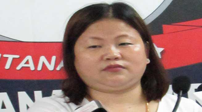 Former CM Late Kalikho Pul's wife Dasanglu Pul opposes 12 hour capital bandh
