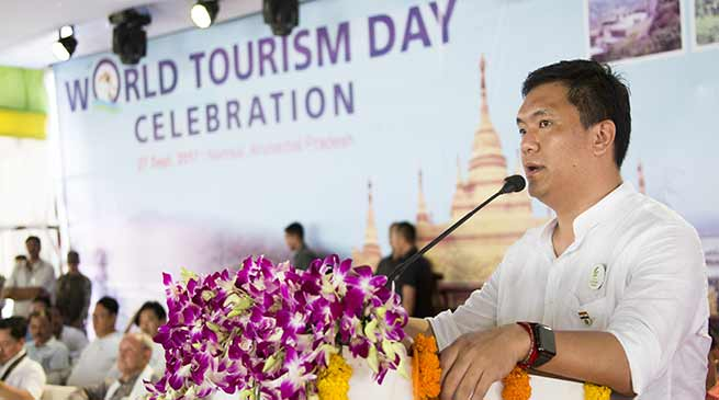 CM Khandu lauds initiatives of Chowna Mein for holding World Tourism Day at Namsai