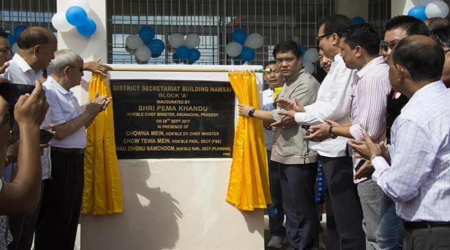 Namsai: CM Khandu inaugurates District Secretariat building