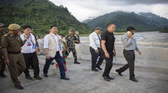 Roing- Khandu inspects Deopani Bridge over Eze River