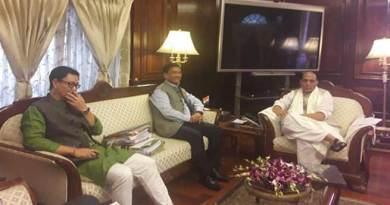 Arunachal CM Pema Khandu meets with HM Rajnath Singh