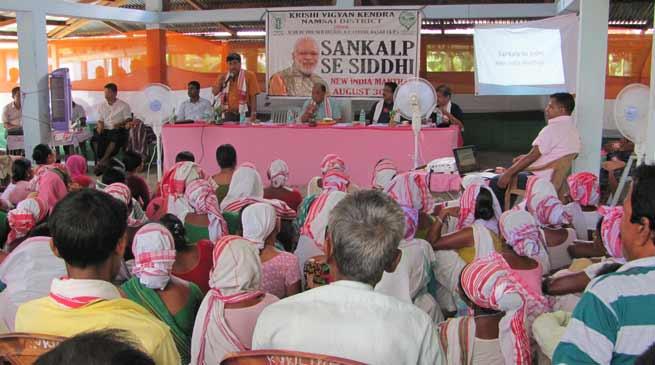 Namsai- KVK organised Sankalp se Siddhi