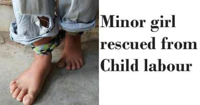 Minor girl rescued from child labour
