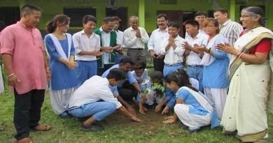 Mass sapling plantation at Abo Tani Vidya Niketan