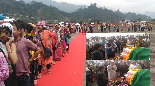 Hundred pay tribute to late Jomde Kena at Naharlagun Helipad, Condolence poured in