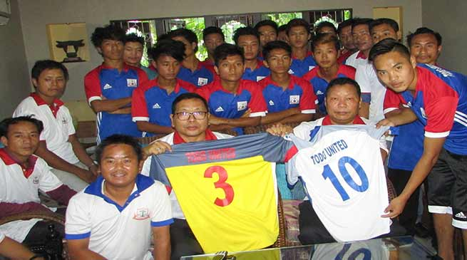 Sanjoy appeal the footballers to play in team spirit with brotherhood