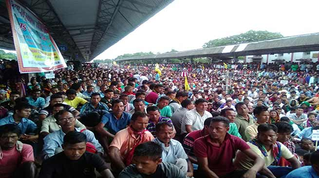 ABSU stages Rail Roko Andolan in support of Bodoland