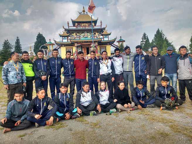 The team of 35 cyclist of MTB today flagged off by ADC Kalaktang Hage Lailang in presence of large gathering at around 8.30 morning.