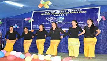 Chowna Mein attend Silver Jubilee Celebration of Nungkon Baptist Church