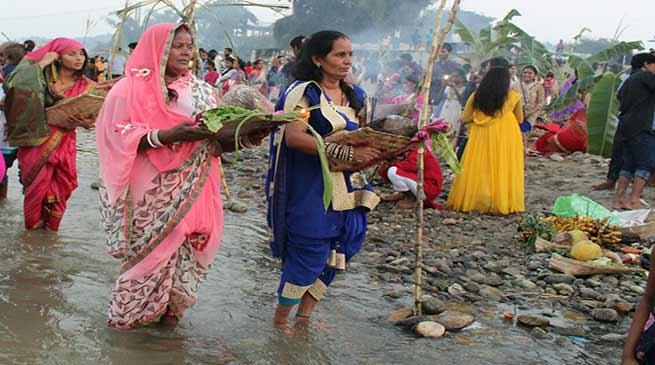 Arunachal Celebrates Chhat Puja