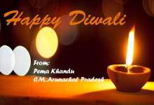 CM  Pema Khandu extends greetings on Diwali