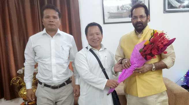 State Minority Morcha leader meet Union Minister Mukthar Abbas Naqvi