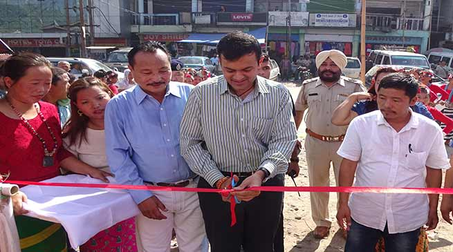 Prince Dhawan inaugurates Vending Zone at Naharlagun a