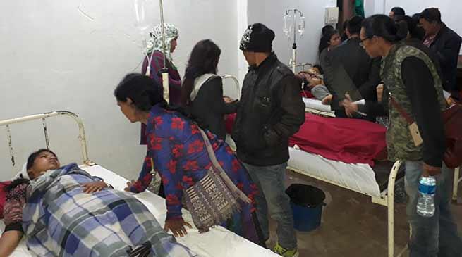 17 School Children of Govt. Hr. Sec School Palin injured in a road accident