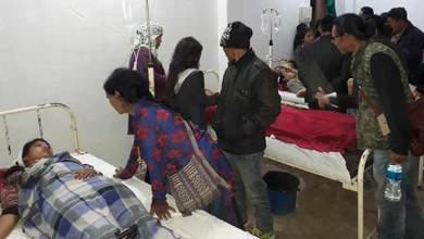 Photo of 17 School Children of Govt. Hr. Sec School Palin injured in a road accident