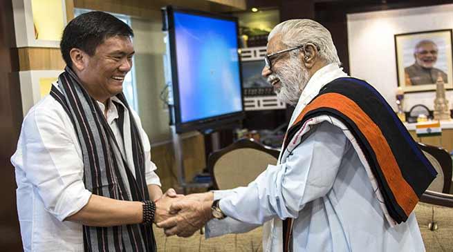 VP of Vivekananda Kendra, A Balakrishnan meets CM Pema Khandu
