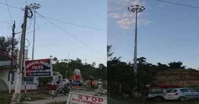 High Mass light post at Hollongi standing idle