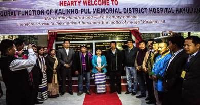 Khandudedicates Kalikho Pul Memorial District Hospital to the people of Anjaw