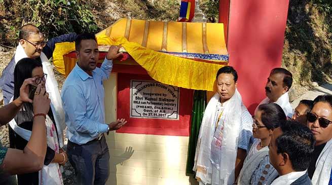 Parliamentary Secretary ( PHE & Ws ,Eco & Statistic) and MLA of Thrizino-Buragoan constituency Kumsi Sidisow today inaugurated 'Boudh Vihar' at Bhalukpong