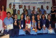 Photo of 10 students scientist selected for 25th national children science congress