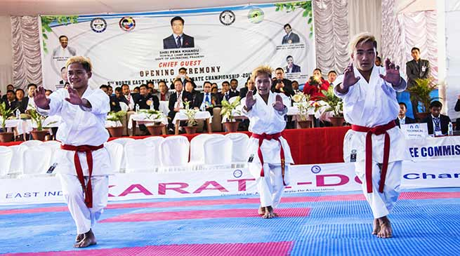 CM Khandu inaugurate 5th North East National Level Karate-do Championship