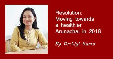 Resolution: Moving towards a healthier Arunachal in 2018