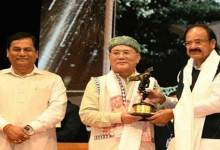 Photo of Thongchi received Sadin Journalism and Literature award from the VP M. Venkaiah Naidu