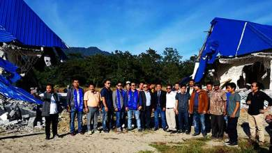 Photo of AAPSU team visits site of demolished tourist guest houses