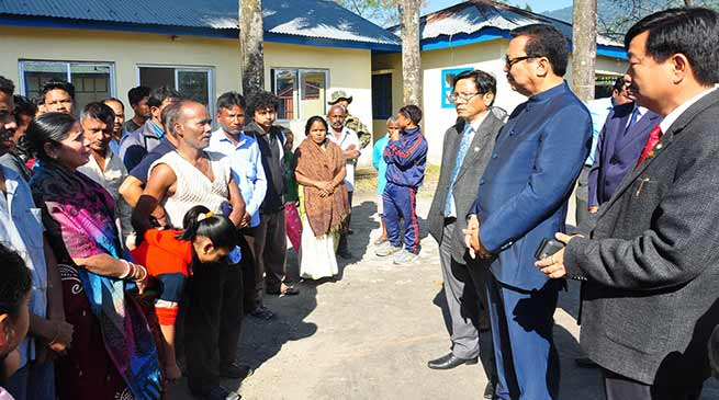 Arunachal: Chowna Mein meets with Niti Vihar fire victims in Itanagar
