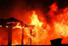 Itanagar- 16 Houses gutted in fire near minister bunglow at Niti Vihar