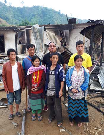 Itanagar- Fire brake out in 2 locations, property worth crore gutted, several family rendered homeless