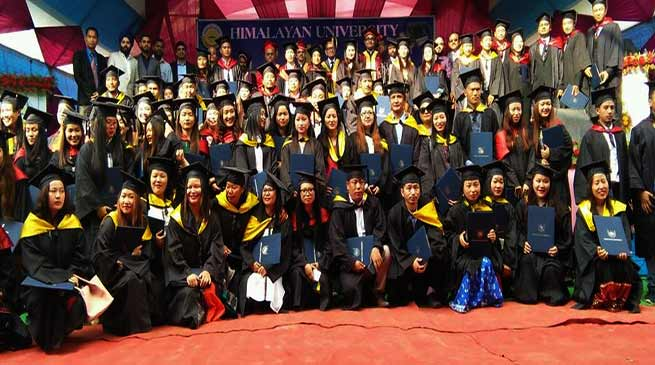 Himalayan University awarded 410 students at it's first convocation