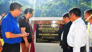 Chowna Mein lays foundation stone of Bridge over Bari-river