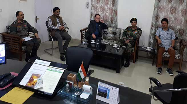 Itanagar- Rebia discusses Land issue for Army cantonment