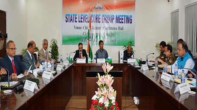 CM Pema Khandu Convene the State Level Core Group Meeting