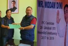 Modam Dini, INC candidate for Likabali,  BJP not decides till now