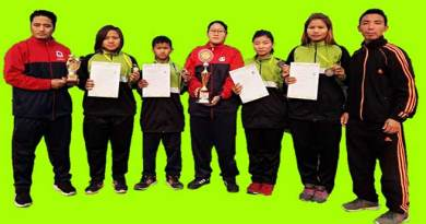 Arunachal Karate team wins 5 Medals