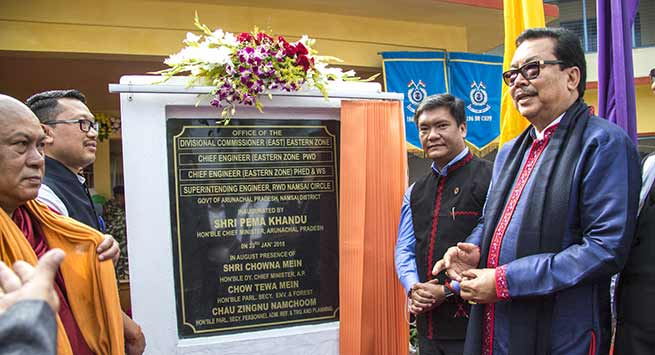 Arunachal: Khandu dedicates Divisional Commissioner (East) to the people of the eastern Arunachal