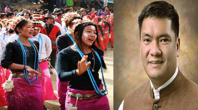 Arunachal: CM Pema Khandu greet people on Si Donyi
