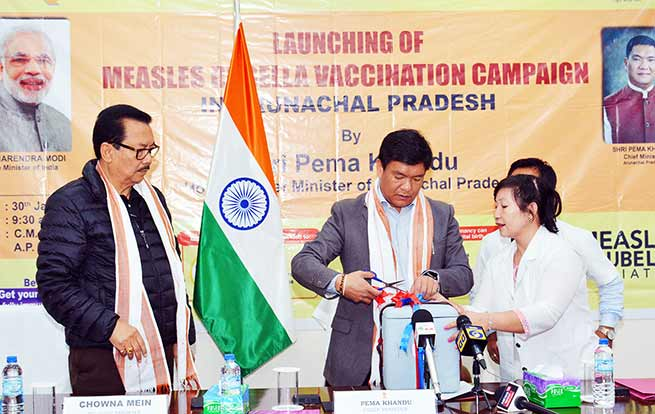 Arunachal: Khandu launches Measles-Rubella (MR) vaccination campaign
