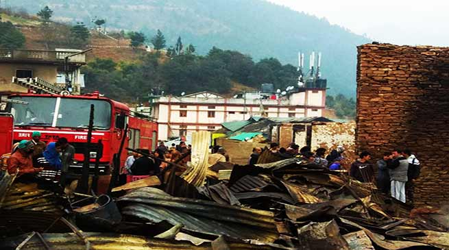 Arunachal: pictures saying the sadness of Dirang fire